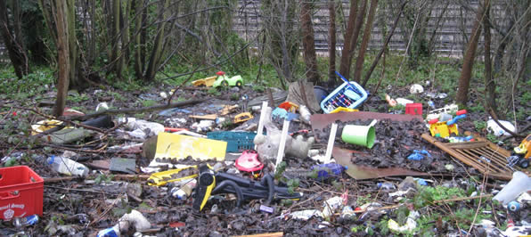 Chesham Fly Tipping Cleanup